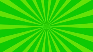 Traditional and classic Sunburst or Starburst background Green 4K and Full HD