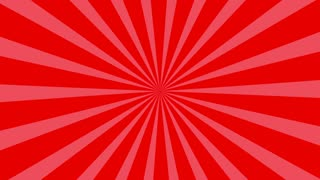 Traditional and classic Sunburst or Starburst background Red 4K and Full HD