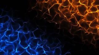 Unreal Flames Dark Seamless Motion Background Orange Blue Version