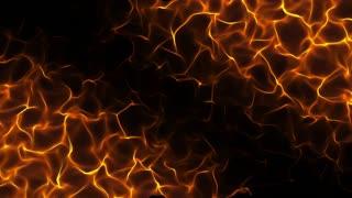 Unreal Flames Dark Seamless Motion Background Orange version