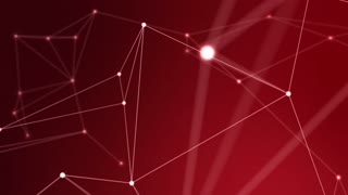 3D Connected Dots and Lines Plexus Seamless Looping Motion Background Red Maroon