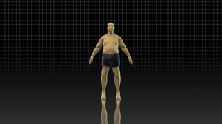 4K Fat to Fit Weight Loss 3D Stock Animation | Overweight Plus Sized to Lean Muscular Before After Transformation Male Fitness | 4096 X 2304 DCI 4K | Version 1