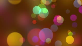 Beautiful Colorful Bokeh Particles Motion Background | Version 1 | Seamless Looping |