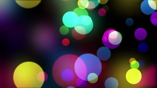 Beautiful Colorful Bokeh Particles Motion Background | Version 2 | Seamless Looping |
