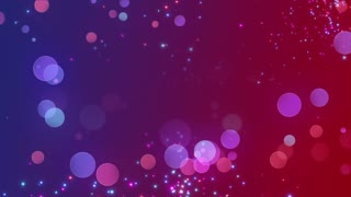 Bokeh Glowing Twinkling Sparkling Particles Circles | Seamless Motion Background | Full HD 1920 X 1080 | Red Blue Magenta Pink