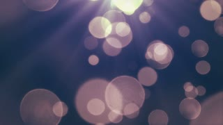 Bokeh Particles Falling and Light Rays From Sky | Seamless Looping Motion Background | Ultra HD DCI 4K 4096x2304 Full HD 1920x1080 | Blue