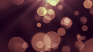Bokeh Particles Falling and Light Rays From Sky | Seamless Looping Motion Background | Ultra HD DCI 4K 4096x2304 Full HD 1920x1080 | Golden Black