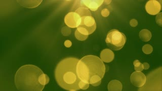 Bokeh Particles Falling and Light Rays From Sky | Seamless Looping Motion Background | Ultra HD DCI 4K 4096x2304 Full HD 1920x1080 | Green