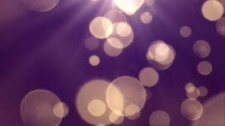 Bokeh Particles Falling and Light Rays From Sky | Seamless Looping Motion Background | Ultra HD DCI 4K 4096x2304 Full HD 1920x1080 | Indigo Purple