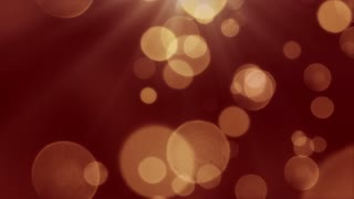Bokeh Particles Falling and Light Rays From Sky | Seamless Looping Motion Background | Ultra HD DCI 4K 4096x2304 Full HD 1920x1080 | Maroon Red