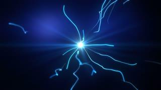 Bolts of Lightening Electricity Seamless Loop Motion Background 02 Deep Blue Cyan