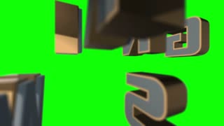 Breaking News 3D Animated Graphics Text Over Green Screen