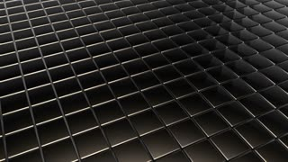 Scrolling Tiled Floor | Shiny Square Metal Tiles on a Plane Surface | Seamless Looping Video Background | 1920x1080 Full HD | Dark Brown Black Champagne |