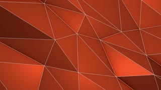 Color Changing Elegant Polygonal Surface | Triangular Polygons with Outlines | Low Poly Waves on a Plane Surface | Seamless Loop | Motion Background | Full HD 1920 1080 | Shifting Colors