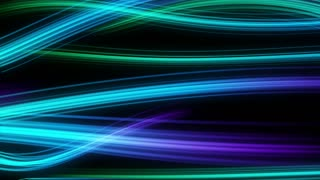 Colorful Elegant Curved Streaks of Light | Full HD 1920x1080 | Blue Cyan Teal Turquoise Purple