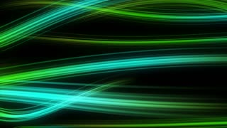 Colorful Elegant Curved Streaks of Light | Full HD 1920x1080 | Green Turquoise Cyan