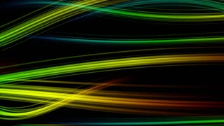 Colorful Elegant Curved Streaks of Light | Full HD 1920x1080 | Seven 7 Colored Version 1.1