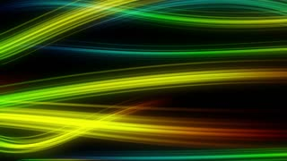 Colorful Elegant Curved Streaks of Light | Full HD 1920x1080 | Seven 7 Colored Version