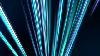 Rising Colorful Light Beams and Streaks Seamless Motion Loop Full HD 1920x1080 Dark Blue Cyan
