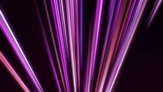 Rising Colorful Light Beams and Streaks Seamless Motion Background Loop Full HD 1920x1080 Purple Violet Pink