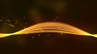 Elegant Colorful Smooth Strip of Strings and Curved Light Beams with Floating Particles Orange