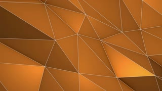 Elegant Polygonal Surface | Triangular Polygons with Outlines | Low Poly Waves on a Plane Surface | Seamless Loop | Motion Background | Full HD 1920 1080 Golden Orange Brown Champagne