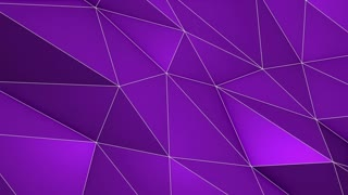 Elegant Polygonal Surface | Triangular Polygons with Outlines | Low Poly Waves on a Plane Surface | Seamless Loop | Motion Background | Full HD 1920 1080 Purple Violet