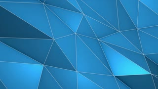 Elegant Polygonal Surface | Triangular Polygons with Outlines | Low Poly Waves on a Plane Surface | Seamless Loop | Motion Background | Full HD 1920 1080 Solid Blue