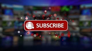 Like Share Subscribe Button outro intro animation with alpha matte