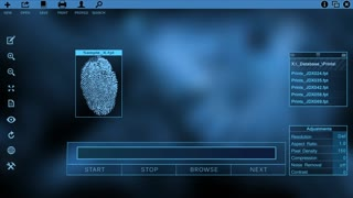 Fingerprints being scanned and matched successfully