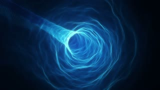 Flying in a Curved Tunnel of Light | Fly Through a Wormhole or Time Vortex | Portal or Gateway to After Life | Seamless Looping Motion Background | Full HD 1920 X 1080 | Blue Cyan