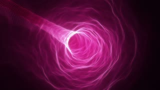 Flying in a Curved Tunnel of Light | Fly Through a Wormhole or Time Vortex | Portal or Gateway to After Life | Seamless Looping Motion Background | Full HD 1920 X 1080 | Pink Magenta