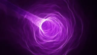 Flying in a Curved Tunnel of Light | Fly Through a Wormhole or Time Vortex | Portal or Gateway to After Life | Seamless Looping Motion Background | Full HD 1920 X 1080 | Purple Violet