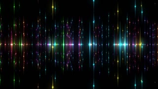 Flying Through a Universe of Colorful Blinking and Twinkling Stars or Light Flares | 4K 4096 X 2304 | Seamless Looping Motion Background | VJ Loop Backdrop