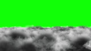 Flying Through Dense Clouds Green Screen | Seamless Looping | Motion Backdrop | Full HD 1920 X 1080 |