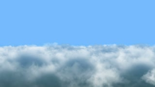 Flying Through Dense Clouds With Blue Sky | Seamless Looping | Motion Backdrop | Full HD 1920 X 1080 |
