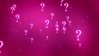 Flying through Floating and Glowing Question Marks Seamless Looping Motion Background Pink Magenta