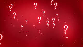 Flying through Floating and Glowing Question Marks Seamless Looping Motion Background Red Maroon
