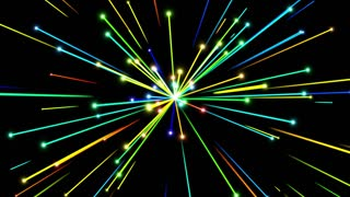 Glowing Flares and Particles Shooting from Center and Leaving Trails of Light Behind them Seamless Looping Motion Background Colorful or Multicolored
