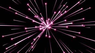 Glowing Flares and Particles Shooting from Center and Leaving Trails of Light Behind them Seamless Looping Motion Background Pink Magenta