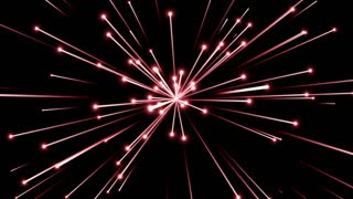 Glowing Flares and Particles Shooting from Center and Leaving Trails of Light Behind them Seamless Looping Motion Background Red