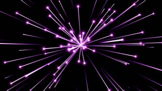 Glowing Flares and Particles Shooting from Center and Leaving Trails of Light Behind them Seamless Looping Motion Background Violet Purple