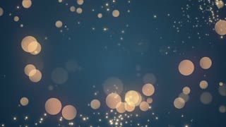 Golden Bokeh Glowing Twinkling Sparkling Particles Circles | Seamless Motion Background | Full HD 1920 X 1080 | Blue Teal
