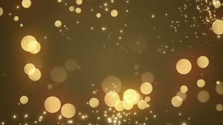 Golden Bokeh Glowing Twinkling Sparkling Particles Circles | Seamless Motion Background | Full HD 1920 X 1080 | Gold Golden Orange Yellow