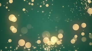 Golden Bokeh Glowing Twinkling Sparkling Particles Circles | Seamless Motion Background | Full HD 1920 X 1080 | Gold Green