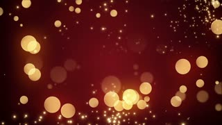 Golden Bokeh Glowing Twinkling Sparkling Particles Circles | Seamless Motion Background | Full HD 1920 X 1080 | Gold Red Maroon