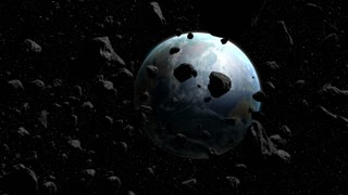 Large Group of Asteroids Meteors Moving Towards Planet Earth 01