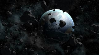 Large Group of Asteroids Meteors Moving Towards Planet Earth 02