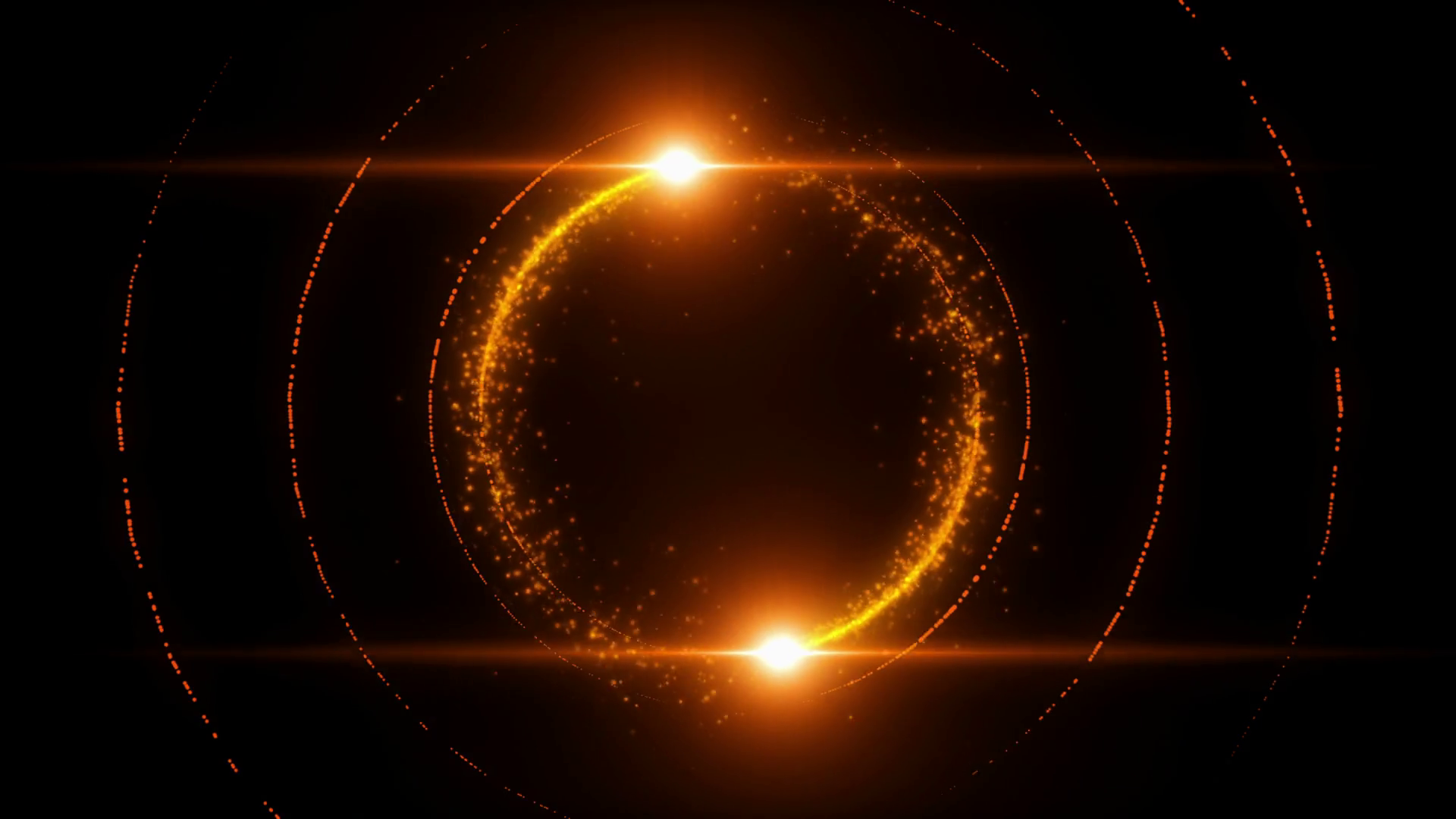 Lens Flares Spinning And Forming Particles Ring Orange Gold Motion Background Storyblocks