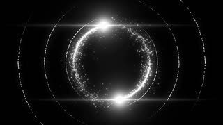 Lens Flares Spinning and Forming Particles Ring White Silver Gray Grey